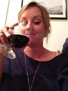 she loves a good glass of red