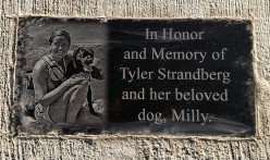 Tyler and Milly plaque